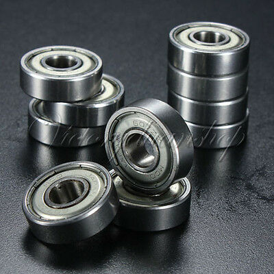 10PCS Miniature Sealed Ball Bearing Groove Model Metal Shielded Metric Radial