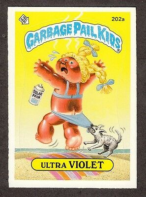 "1986 Topps Garbage Pail Kids 5th Series 5 ""ULTRA VIOLET"" Sticker Card #202a"