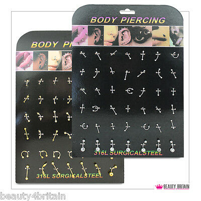 168 x PIERCING BODY 4 DISPLAY STANDS DIFFERENT DESIGNS & SIZES WHOLESALE FROM UK
