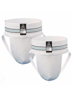 McDavid Classic Logo 3110 CL Athletic Supporter / 2-Pack - White - Small