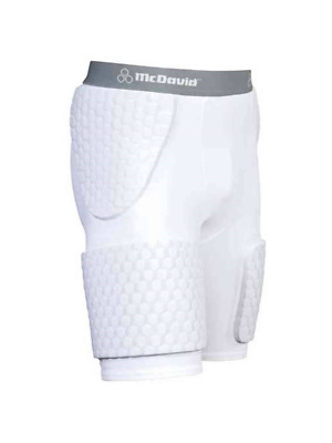 McDavid Classic Logo 7580W Womens Extended Thudd Shorts White Large