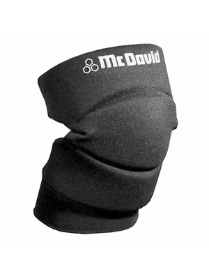 McDavid Classic Logo 643 CL Knee / Elbow Pads W/ Open Back - Black - Large