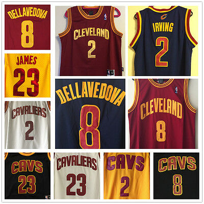 Cleveland Cavaliers NBA Jersey - Kyrie Irving #2, Dellavedova #8, or James #23