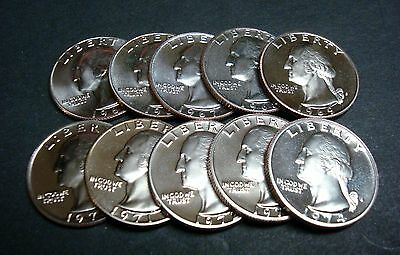 1970-S  <>  1980-S   All Ten (10) Gem Proof Washington Quarters From Sealed Sets