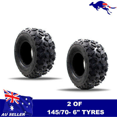 2x 145/70-6 6 inch Front Rear Tyre Tire 50cc 70cc 110cc Quad mini Bike ATV Buggy