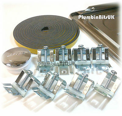 Stainless Steel Kitchen Sink Fixing Pack Kit with Adjustable Clips by Leisure