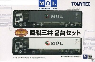 tomytec 2  truck set mol container  Spur N scale suberb detail
