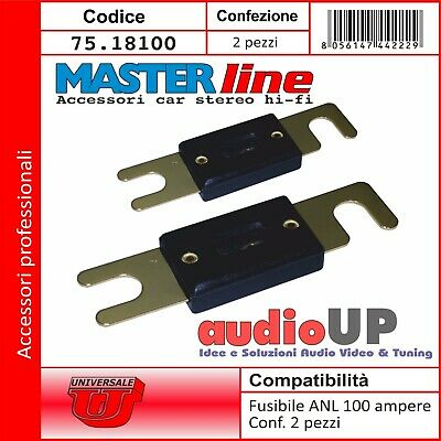 Fusibile Anl 100A A Lama Dorato Car Audio Hi Fi. Fusibili Masterline