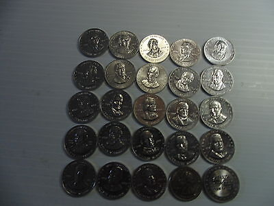 1968 Shell Presidents Coins Lot of 23 different
