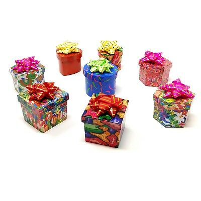 48 Pattern & Shape Assorted Jewelry Gift Boxes with Bows Value Pack