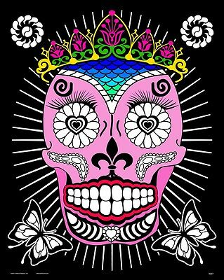 Queen (Day of the Dead) - Large 16x20 Inch Fuzzy Velvet Coloring Poster