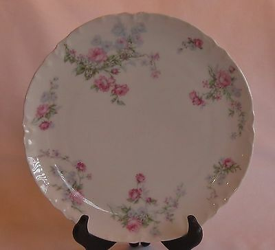 DOUBLE MARK  LIMOGES PLATE WITH ROSES  -  c. 1876-1930