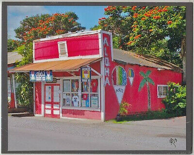 "Classic Aoki's Shave Ice Store 2013 In Haleiwa Town Giclee Photo On 8X10"" Matt"