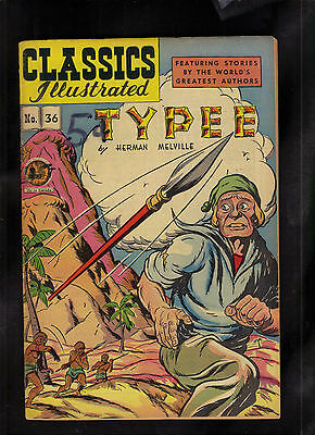 Classics Illustrated #36 Vg+  Hrn64 (Typee) Herman Melville