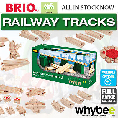 BRIO Railway Track Full Range of Wooden Train Tracks & Switches Children 1yr+