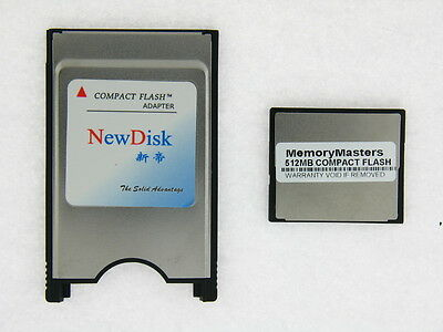 512MB Compact Flash Compactflash +PC card PCMCIA Adapter JANOME 512MB