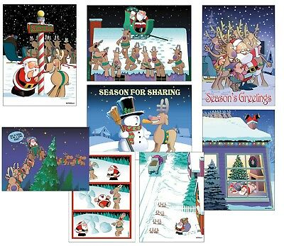 Assortment Pack of 24 Funny Christmas Cards -85