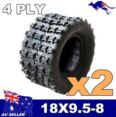 "2x 18 x 9.5 - 8"" inch Rear Tyre Tire 4PL 150cc ATV Quad Dirt Bike Dune Buggy"