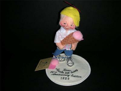 """7"""" Annalee Doll Society 10th Anniversary Edition 1993, Boy With Ice Cream Cone"""