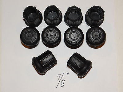 """(10) New 7/8"""" Heavy Rubber Tips For Walking Sticks, Canes, Crutches, & Walkers"""