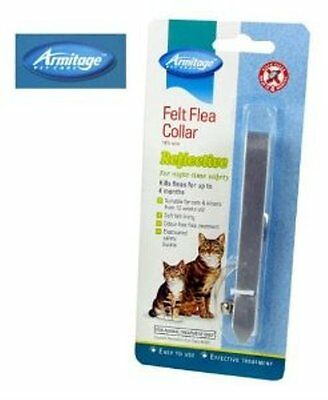 Reflective Cat Flea Collar Engraved Cat Tag And Split Rings Yellow Or Silver