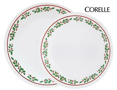 Corelle WINTER HOLLY Choose: DINNER or LUNCH PLATE *CHRISTMAS Holiday Red Green