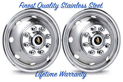 "16"" Ford E350 E450 8 Lug Stainless Steel Wheel Simulator Wheel Cover Liners ©"