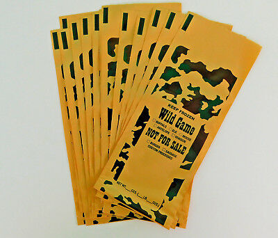 200 1-Lb ground meat Freezer Bags for beef, venison, pork or all wild game meats