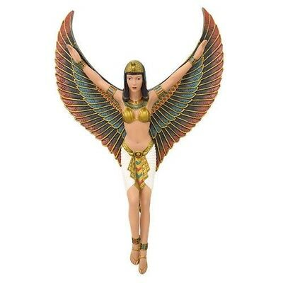 "Ancient Egyptian Goddess Isis with Open Wings 18""H Wall Plaque Statue Collection"