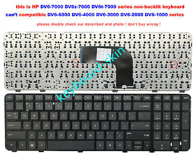 HP Envy DV7-7000 DV7-7100 DV7-7200 DV7-7300 US Keyboard Framed 698781-001 NEW
