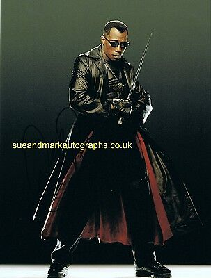 Wesley Snipes Human Vampire Blade Autograph UACC RD 96