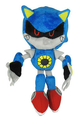 "1x NEW OFFICIALLY LICENSED 7"" METAL SONIC THE HEDGEHOG CLASSIC STUFFED PLUSH TOY"