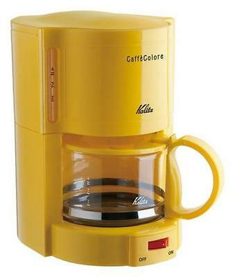 New! Kalita Coffee Maker Cafe Colore V-102 Yellow 4-cups from Japan