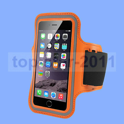 Orange Armband Sports Gym strap Case Cover holder For Apple iPhone6 I6 4.7""