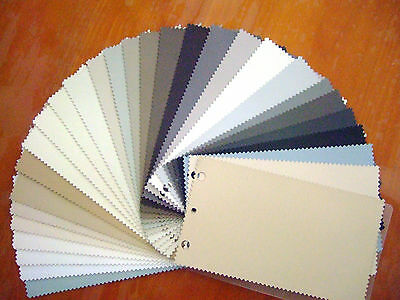 Custom Made Vertical Blind Small Colour Samples In Focus Fabric Blockout Slats