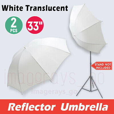 2x 84cm Pro Soft White Diffuser Photo Studio Photography Translucent Umbrella
