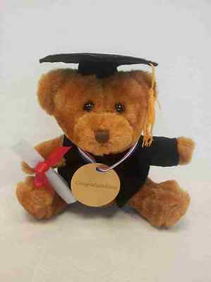Graduation Gift Teddy Bear with mortarboard & certificate-6 inches