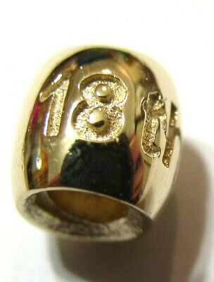 KAEDESIGNS, 9ct Yellow or Rose or White Gold or Silver 18th BIRTHDAY BEAD CHARM