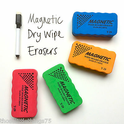 Magnetic whitboard eraser rubber drywipe cleaner marker pen blackboard