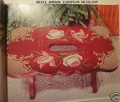 TOLE PAINTING magazine  TOLE WORLD AUGUST 1999 lots florals HEIRLOOM STOOL MORE