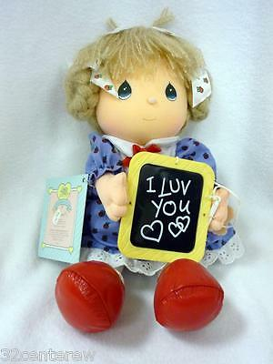 VINTAGE APPLAUSE PRECIOUS MOMENTS IT'S AS SIMPLE AS A B C TEACHER I LUV YOU DOLL