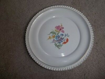 The Harker Pottery Co. Trimed in 22 kt. Gold Tulip & Spring Flowers