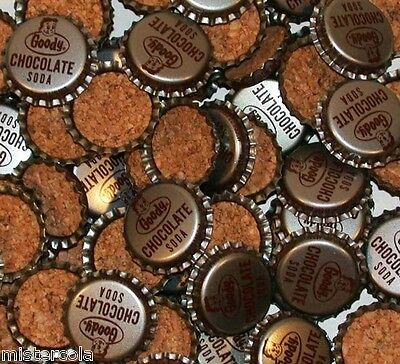 Soda pop bottle caps Lot of 25 GOODY CHOCOLATE with boy cork lined new old stock