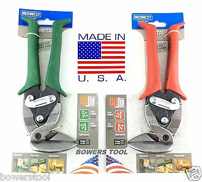 Midwest Upright Snip Set Right Angle MWT-6900R & 6900L MADE IN USA Left Right Up
