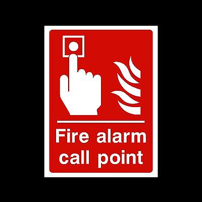 Fire Alarm Call Point - Plastic Sign, Sticker - All Sizes/Materials - (FE13)