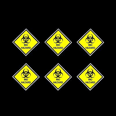 Bio Hazard Sign, Sticker - 100x100mm - *Pack of 6*