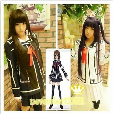 Vampire Knight Cosplay Costume dress Yuki Cross White or Black uniform M-XL