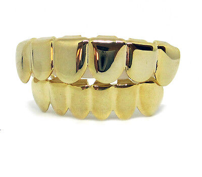Grillz UNI OR Haut & Bas Hip hop bling Grillz Set
