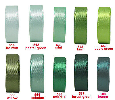 "5y 10y 25y 50mm 2"" Lilac Purple Green Emerald Double Faced Satin Ribbon Eco"