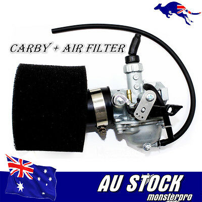 19mm MIKUNI Racing Carby + Foam ail filter 50/70/110/125 cc PIT DIRT QUAD BIKE